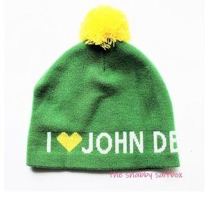 John Deere Beanie Cap Spelled Out Knit UNISEX